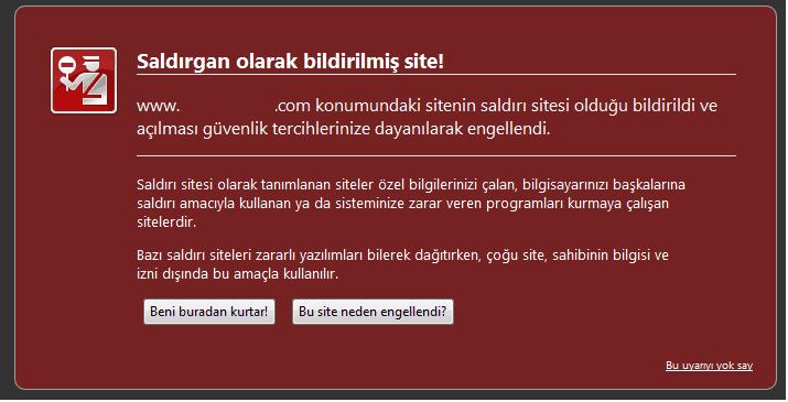 Google Saldırgan Site Listesinden Sitenizi Çıkartma Yöntemi