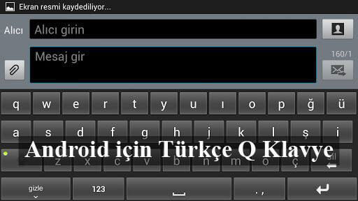 Android için Türkçe Q klavye