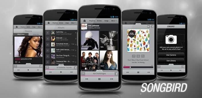 Android işletim sistemleri için: Songbird 1
