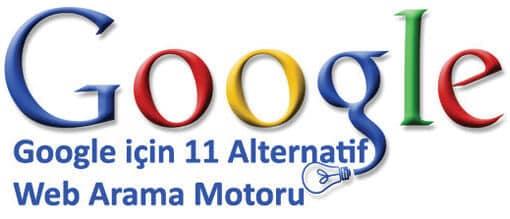 Google yerine alternatif arama motoru | Google'ın 11 Alternatif Web Arama Motoru