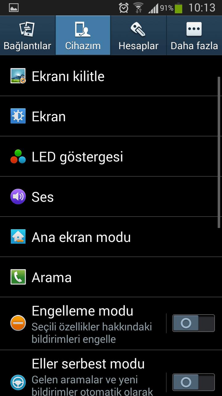 Android 4.3 Jelly Bean güncellemesinden sonra değişen arayüz 2