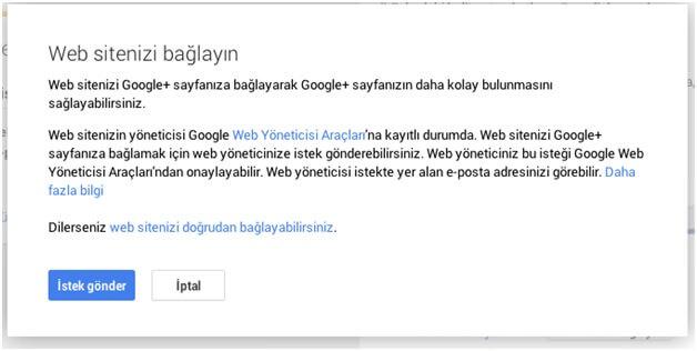 Google Plus web siteyi nasıl bağlarız