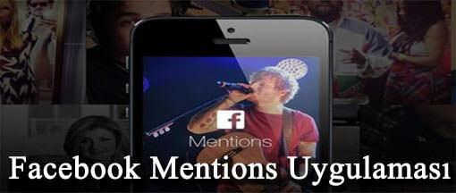 Facebook Mentions uygulaması
