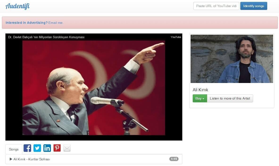 Audentifi ile youtube arka planda çalan şarkıyı bulma nasıl olur