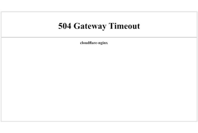 504 Ağ Geçidi Zaman Aşımı Hatası ya da 504 Gateway Timeout